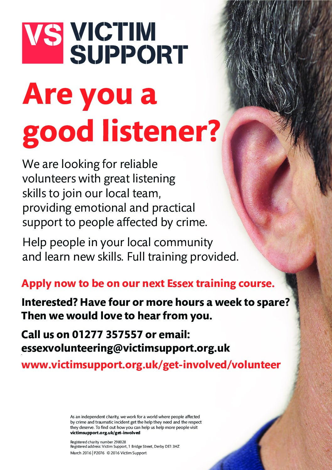 Volunteer with Victim Support